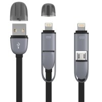 Kabel Data Charging Cable (2in1) with MicroUSB &...