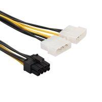 Adapter Stromadapter für Grafikkarten PCI...