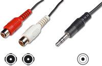 Kabel Audio Klinke 3,5mm -> 2x Cinch Buchsen 2m