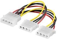 Kabel Adapter Molex Power Y-Form HDD 2x5.25 0,3m