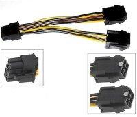 Kabel PCI-E Y Stromkabel PCIe 8Pin - 2 x (6 + 2Pin)...