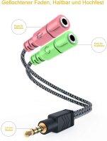Adapter 3,5mm Klinke Stecker -> 2x 3,5mm Klinke Buchse