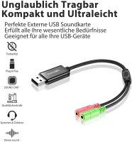 Soundkarte extern USB -> 2x 3.5mm Buchse