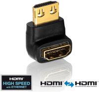 Adapter HDMI ST <-> HDMI BU 270° Winkel, 4K, UHD