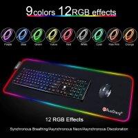 Gaming Mauspad mit RGB Beleuchtung 80x30
