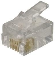 Modular Plug RJ11 Flat Cable/Stk.