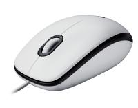 Maus Logitech M100 weiß kablegebunden