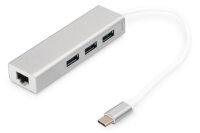 USB-C Hub 3x USB 3.0 + Gb LAN