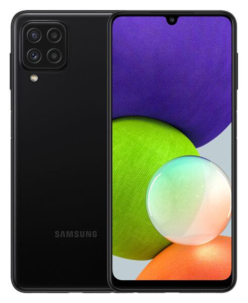 Handy Samsung Galaxy A22 schwarz, 64/4 ohne Branding   fertig eingerichtet