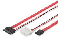 Kabel SATA <-> slimline SATA 13pin - L-Typ 0,5m