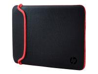 "Notebooktasche 15,6"" HP Neoprenhülle schwarz/rot"